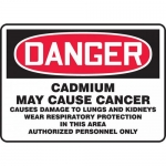 "Accuform MCAW160VS, Vinyl OSHA Sign ""Cadmium May Cause Cancer"""