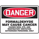 """Accuform MCAW182VS, Vinyl OSHA Sign """"Formaldehyde May Cause Cancer…"""""""