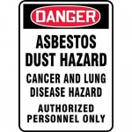 "Accuform MCAW191VP, Plastic OSHA Sign ""Asbestos Dust Hazard Cancer…"""