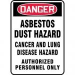 "Accuform MCAW191VS, Vinyl OSHA Sign ""Asbestos Dust Hazard Cancer…"""