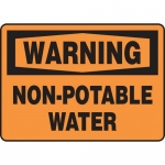"Accuform MCAW301XP, Accu-Shield OSHA Sign ""Warning Non-Potable Water"""