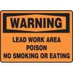 "Accuform MCAW302VA, OSHA Sign "" Warning Lead Work Area Poison…"""