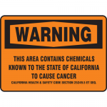 """Accuform MCAW304VS, OSHA Sign """"This Area Contains Chemicals Known…"""""""