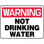 "Accuform MCAW307XP, Accu-Shield Sign ""Warning Not Drinking Water"""