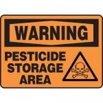 "Accuform MCAW315VP, Plastic OSHA Sign ""Warning Pesticide Storage Area"""