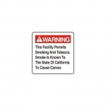 """Accuform MCAW323VP, ANSI Sign """"This Facility Permits Smoking and…"""""""