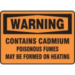 "Accuform MCAW328VA, Sign ""Contains Cadmium Poisonous Fumes May…"""