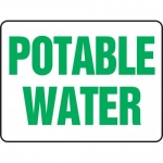 "Accuform MCAW501XP, 10″ x 14″ Accu-Shield Sign: ""Potable Water"""