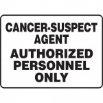 "Accuform MCAW502XL, Sign ""Cancer-Suspect Agent Authorized…"""