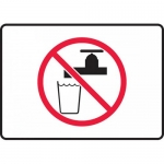 "Accuform MCAW505XP, Accu-Shield Sign ""Non-Potable Water"" Symbol"
