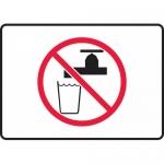 "Accuform MCAW510VS, Adhesive Vinyl Sign ""Non-Potable Water"" Symbol"