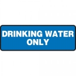 "Accuform MCAW518XP, 4″ x 12″ Accu-Shield Sign: ""Drinking Water Only"""