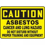 """Accuform MCAW603VP, Plastic Sign """"Asbestos Cancer and Lung Hazard…"""""""