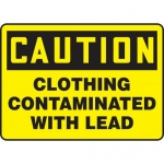 """Accuform MCAW605XL, Aluma-Lite Sign """"Clothing Contaminated With Lead"""""""