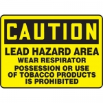 "Accuform MCAW607XL, Sign ""Lead Hazard Area Wear Respirator…"""