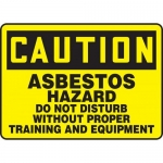 "Accuform MCAW608XL, Sign ""Asbestos Hazard Do Not Disturb Without…"""