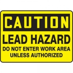 "Accuform MCAW610XL, Sign ""Lead Hazard Do Not Enter Work Area…"""