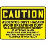 """Accuform MCAW612XL, Sign """"Asbestos Dust Hazard Avoid Breathing…"""""""