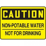 "Accuform MCAW615XP, Sign ""Non-Potable Water Not for Drinking"""