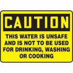 "Accuform MCAW620XP, Sign ""This Water is Unsafe and is Not to Be…"""