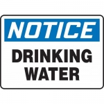 "Accuform MCAW801XP, Accu-Shield Sign ""Notice Drinking Water"""