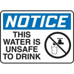 "Accuform MCAW802XP, Accu-Shield Sign ""Notice This Water is Unsafe…"""