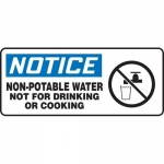 "Accuform MCAW803XP, Sign ""Non-Potable Water Not for Drinking or…"""