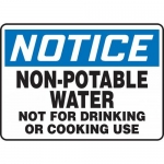 "Accuform MCAW805XP, Sign ""Non-Potable Water Not for Drinking or…"""