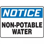 "Accuform MCAW808XP, Accu-Shield Sign ""Notice Non-Potable Water"""