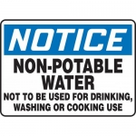 "Accuform MCAW809XP, Sign ""Notice Non-Potable Water Not to Be Used…"""