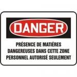 "Accuform MCCH175XL, French Sign ""Presence De Matieres Dangereuses…"""