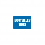 """Accuform MCCH532VS, Adhesive Vinyl French Sign """"Bouteilles Vides"""""""