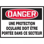 "Accuform MCCS003XL, OSHA French Sign ""Une Protection Oculaire…"""