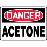 "Accuform MCHG003XF, Dura-Fiberglass OSHA Sign ""Danger Acetone"""