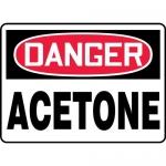 "Accuform MCHG003XV, Adhesive Dura-Vinyl OSHA Sign ""Danger Acetone"""