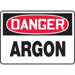 "Accuform MCHG004VA, Aluminum OSHA Sign with Legend ""Danger Argon"""