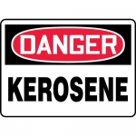 "Accuform MCHG010XL, Aluma-Lite OSHA Sign with Legend ""Danger Kerosene"""