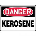 "Accuform MCHG010XV, Adhesive Dura-Vinyl OSHA Sign ""Danger Kerosene"""