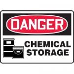 "Accuform MCHG021XF, OSHA Sign ""Danger Chemical Storage"""