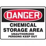 "Accuform MCHG022VS, OSHA Sign ""Chemical Storage Area Unauthorized…"""