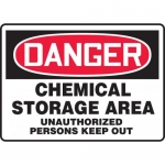 "Accuform MCHG022XL, OSHA Sign ""Chemical Storage Area Unauthorized…"""