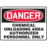 "Accuform MCHG023XV, OSHA Sign ""Chemical Unloading Area Authorized…"""