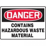 "Accuform MCHG024XL, OSHA Sign ""Contains Hazardous Waste Material"""