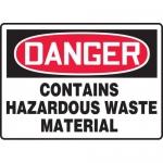 "Accuform MCHG024XP, OSHA Sign ""Contains Hazardous Waste Material"""