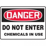 """Accuform MCHG026XL, OSHA Sign """"Danger Do Not Enter Chemicals in Use"""""""