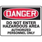 "Accuform MCHG027XF, OSHA Sign ""Do Not Enter Hazardous Area…"""