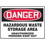 "Accuform MCHG030XF, OSHA Sign ""Hazardous Waste Storage Area…"""