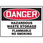 "Accuform MCHG031XF, OSHA Sign ""Hazardous Waste Storage Flammable…"""