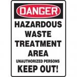 "Accuform MCHG032XF, OSHA Sign ""Hazardous Waste Treatment Area…"""