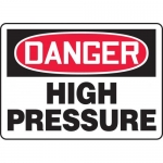 "Accuform MCHG034VA, Aluminum OSHA Sign ""Danger High Pressure"""